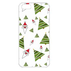 Christmas Santa Claus Decoration Apple Iphone 5 Seamless Case (white)