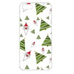 Christmas Santa Claus Decoration Apple iPhone 5 Seamless Case (White) Front