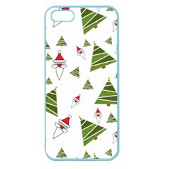 Christmas Santa Claus Decoration Apple Seamless Iphone 5 Case (color)