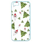 Christmas Santa Claus Decoration Apple Seamless iPhone 5 Case (Color) Front