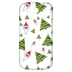 Christmas Santa Claus Decoration Samsung Galaxy S3 S Iii Classic Hardshell Back Case