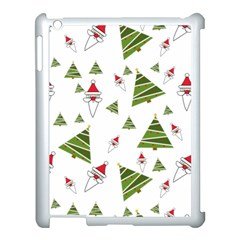 Christmas Santa Claus Decoration Apple Ipad 3/4 Case (white)