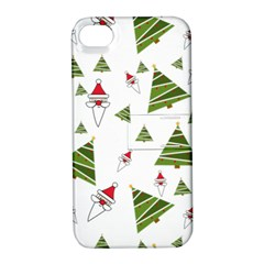 Christmas Santa Claus Decoration Apple Iphone 4/4s Hardshell Case With Stand