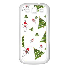 Christmas Santa Claus Decoration Samsung Galaxy S3 Back Case (white)