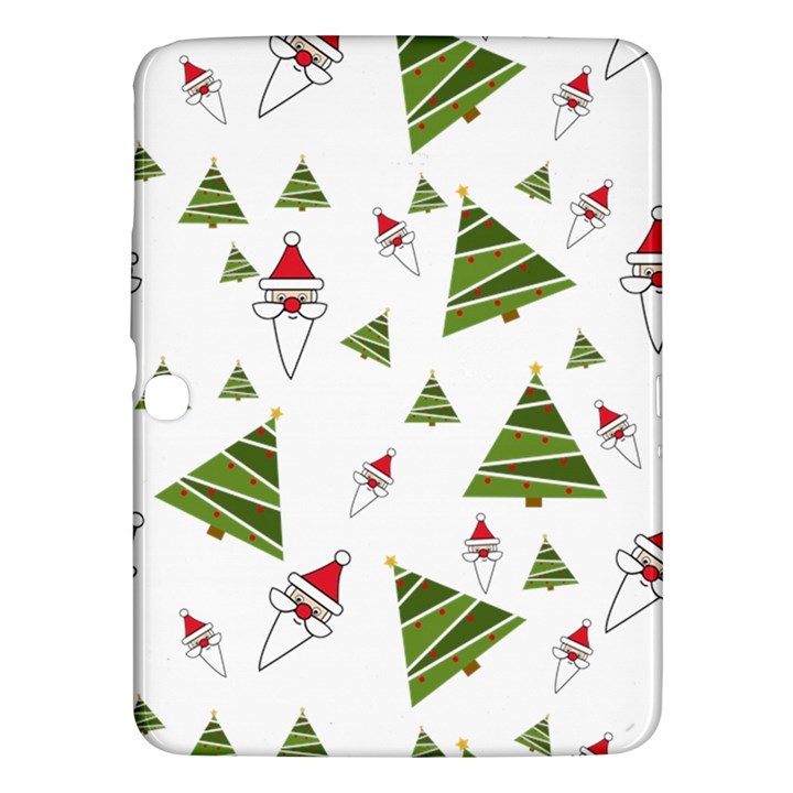 Christmas Santa Claus Decoration Samsung Galaxy Tab 3 (10.1 ) P5200 Hardshell Case