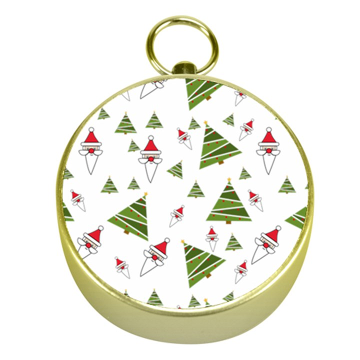 Christmas Santa Claus Decoration Gold Compasses