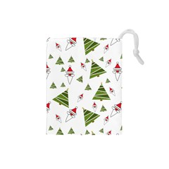 Christmas Santa Claus Decoration Drawstring Pouch (small)