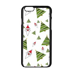 Christmas Santa Claus Decoration Apple Iphone 6/6s Black Enamel Case