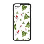 Christmas Santa Claus Decoration Apple iPhone 6/6S Black Enamel Case Front