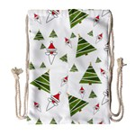 Christmas Santa Claus Decoration Drawstring Bag (Large) Front