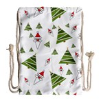 Christmas Santa Claus Decoration Drawstring Bag (Large) Back