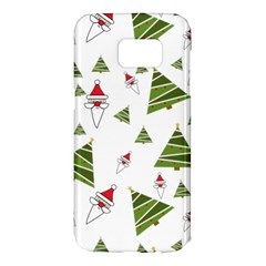 Christmas Santa Claus Decoration Samsung Galaxy S7 Edge Hardshell Case by Nexatart