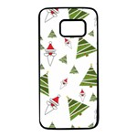 Christmas Santa Claus Decoration Samsung Galaxy S7 Black Seamless Case Front