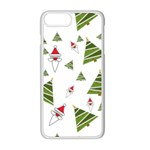 Christmas Santa Claus Decoration Apple iPhone 8 Plus Seamless Case (White) Front