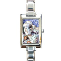 Model Color Traditional Rectangle Italian Charm Watch by Nexatart