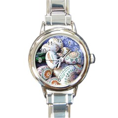 Model Color Traditional Round Italian Charm Watch by Nexatart