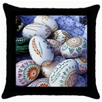 Model Color Traditional Throw Pillow Case (Black) Front