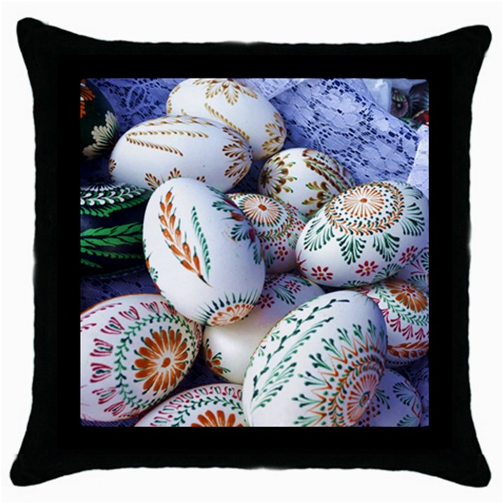 Model Color Traditional Throw Pillow Case (Black)