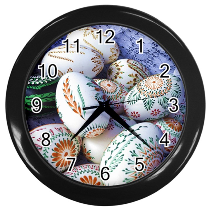 Model Color Traditional Wall Clock (Black)