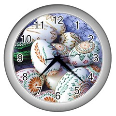 Model Color Traditional Wall Clock (Silver)