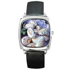 Model Color Traditional Square Metal Watch by Nexatart