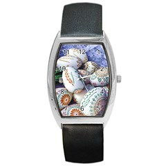 Model Color Traditional Barrel Style Metal Watch by Nexatart
