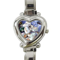 Model Color Traditional Heart Italian Charm Watch by Nexatart