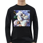 Model Color Traditional Long Sleeve Dark T-Shirt Front