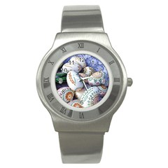 Model Color Traditional Stainless Steel Watch by Nexatart