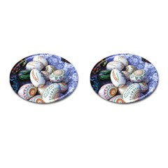 Model Color Traditional Cufflinks (oval) by Nexatart