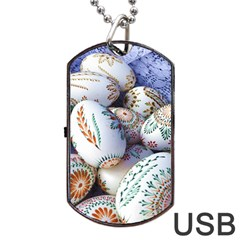 Model Color Traditional Dog Tag USB Flash (One Side)