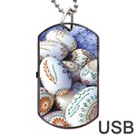 Model Color Traditional Dog Tag USB Flash (Two Sides) Back