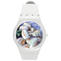 Model Color Traditional Round Plastic Sport Watch (m) by Nexatart