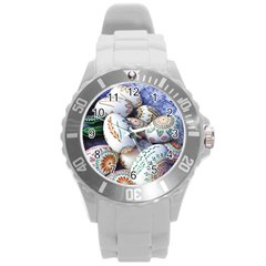 Model Color Traditional Round Plastic Sport Watch (l)