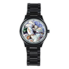 Model Color Traditional Stainless Steel Round Watch by Nexatart