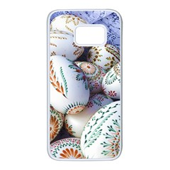 Model Color Traditional Samsung Galaxy S7 White Seamless Case by Nexatart