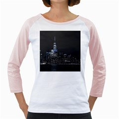 New York Skyline New York City Girly Raglan