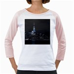 New York Skyline New York City Girly Raglan Front