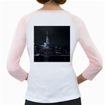 New York Skyline New York City Girly Raglan Back