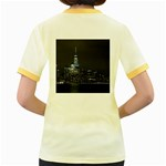 New York Skyline New York City Women s Fitted Ringer T-Shirt Back