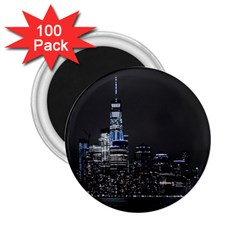 New York Skyline New York City 2 25  Magnets (100 Pack)  by Nexatart