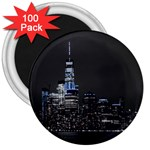 New York Skyline New York City 3  Magnets (100 pack) Front