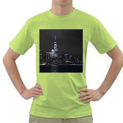 New York Skyline New York City Green T Shirt