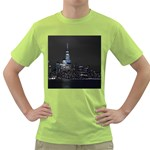 New York Skyline New York City Green T-Shirt Front