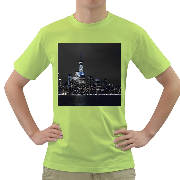 New York Skyline New York City Green T-Shirt
