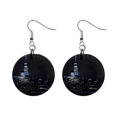 New York Skyline New York City Mini Button Earrings