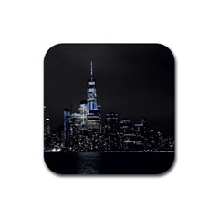 New York Skyline New York City Rubber Coaster (square)  by Nexatart