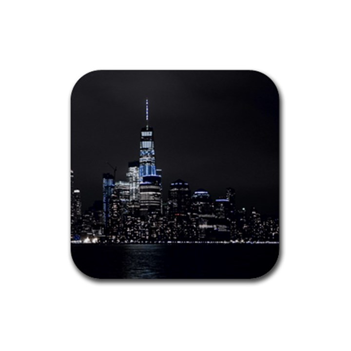 New York Skyline New York City Rubber Coaster (Square)