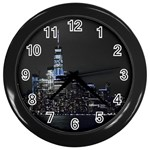 New York Skyline New York City Wall Clock (Black) Front