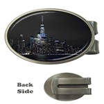 New York Skyline New York City Money Clips (Oval)  Front